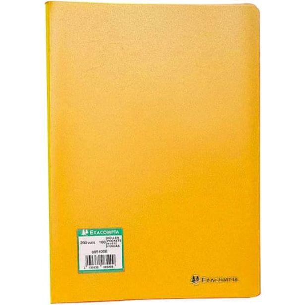 EXACOMPTA Porte-vues A4 200 vues jaune offre à 4,2€