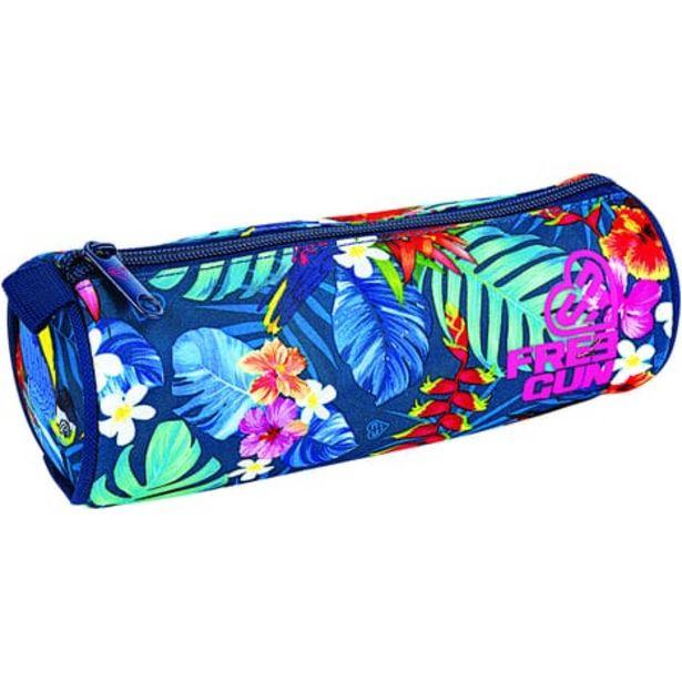 FREEGUN Trousse ronde bleue motifs fleurs offre à 5,5€