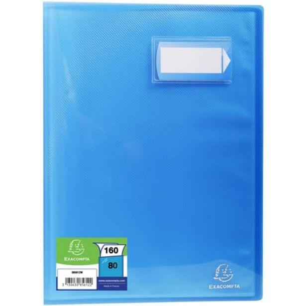 EXACOMPTA Porte-vues A4 160 vues Crystal bleu offre à 3,5€