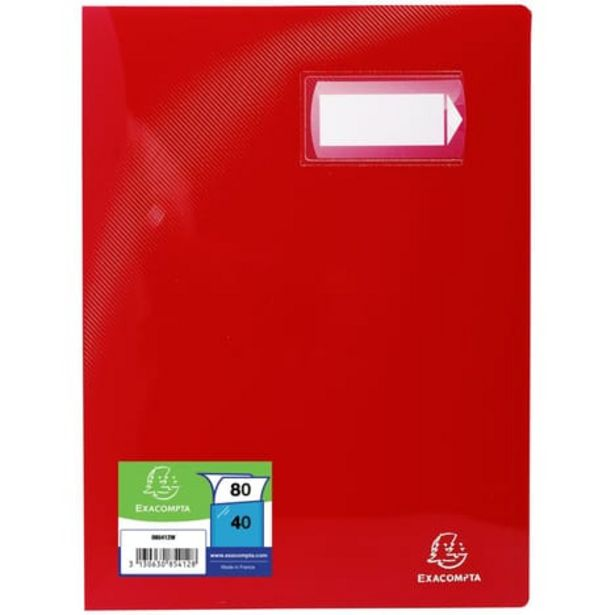 EXACOMPTA Porte-vues A4 80 vues Crystal rouge offre à 2,1€