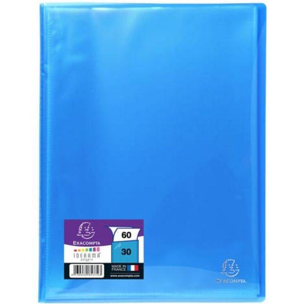 EXACOMPTA Porte-vues A4 60 vues bleu turquoise offre à 1,8€