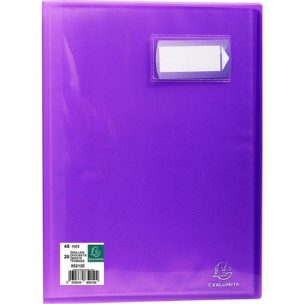 EXACOMPTA Porte-vues A4 40 vues Crystal violet offre à 1,45€