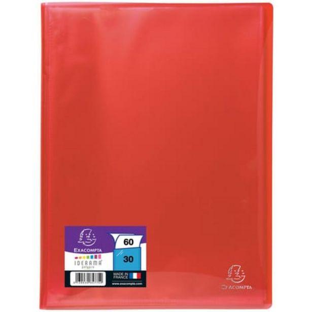 EXACOMPTA Porte-vues A4 60 vues rouge offre à 1,8€