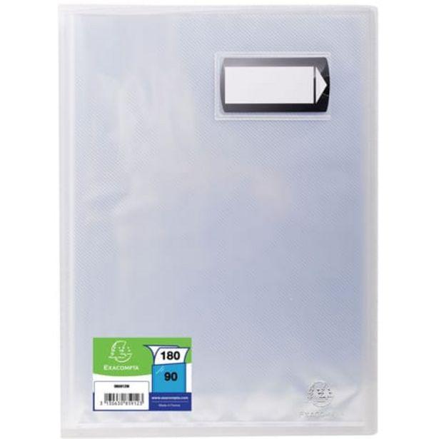 EXACOMPTA Porte-vues A4 180 vues Crystal transparent offre à 3,9€