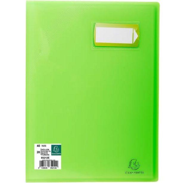 EXACOMPTA Porte-vues A4 40 vues Crystal vert offre à 1,45€