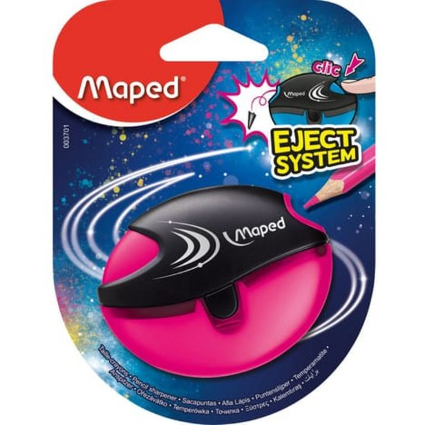 MAPED Taille-crayons avec réservoir Eject System 1 trou Violet offre à 1,19€