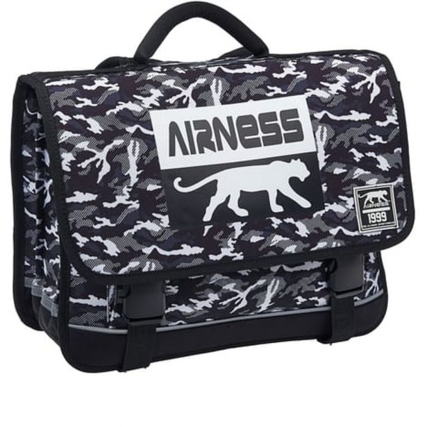 AIRNESS Cartable 41 cm noir et blanc AIRNESS LIBERTY offre à 49,99€