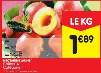 Nectarine jaune offre à 1,89€