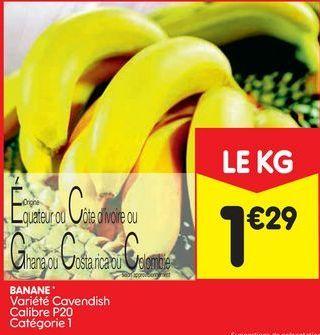 Bananes offre à 1,29€