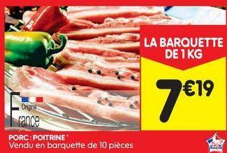 Porc: poitrine offre à 7,19€