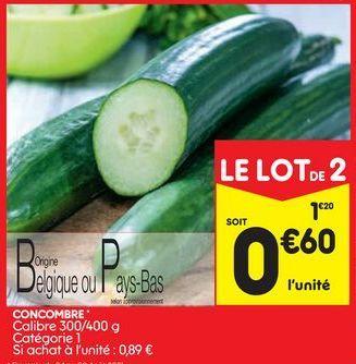 Concombres offre à 1,2€
