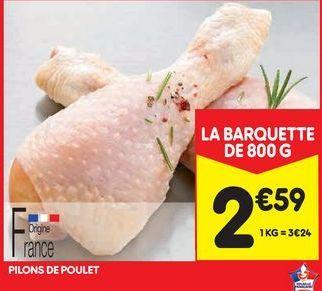 Pilons de poulet offre à 2,59€