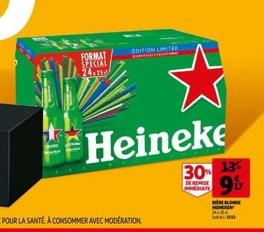 Bière blonde heineken offre à 9,17€