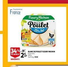 Blanc de poulet flaury michon offre à 2,27€