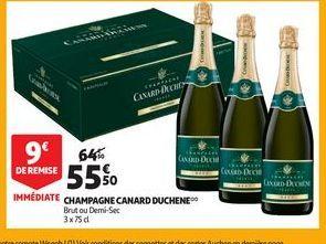 Champagne canard duchene offre à 55,5€