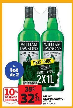Whisky William Lawson´s offre à 32,31€