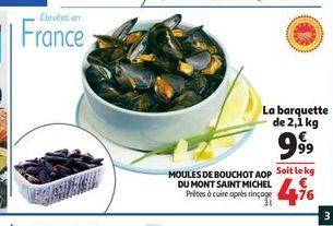 Moules de bouchot AOP du mont saint Michel offre à 9,99€