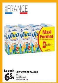 Lait viva de candia offre à 6,24€