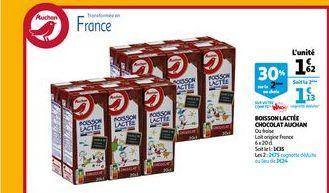 Boissons lactee chocolat auchan offre à 1,62€