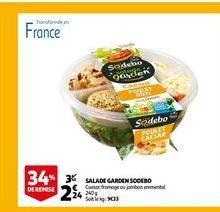 Salade garden sodebo offre à 2,24€
