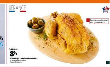 Poulet roti dans nos magasins offre à 8,99€