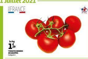 Tomates rondes en grappes offre à 1,29€