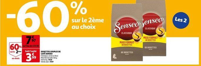 Dossettes souples de cafe espresso offre à 7,97€