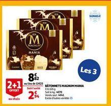 Batonnets magnum mania offre à 8,82€