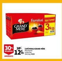 Café moulu grand-mere offre à 12,95€