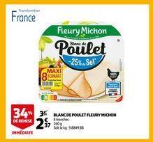 Blanc de poulet flaury michon offre à 2,37€