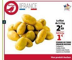 Pommes de terre primeur auchan offre à 2,49€