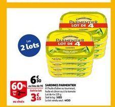 Sardines parmentier offre à 6,3€