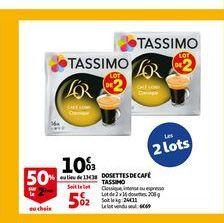 Dosettes de café tassimo offre à 10,03€