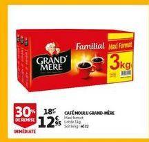 Café moulu grand mere offre à 12,95€