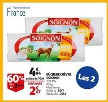 Buche de chevre soignon offre à 4,94€