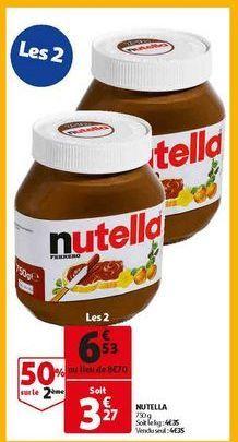 Nutella offre à 6,53€