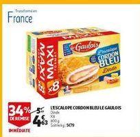 L´escalope cordon bleu le gaulois offre à 4,63€