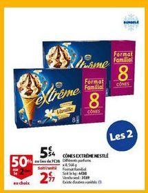 Cones extreme nestle offre à 5,54€