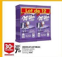Chocolats lait milka offre à 7,97€