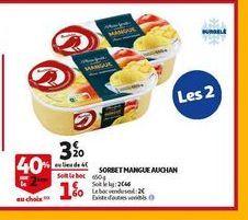 Sorbet mangue auchan offre à 3,2€