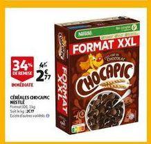 Céréales chocapic nestle offre à 2,77€