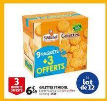 Galettes St Michel offre à 6,49€
