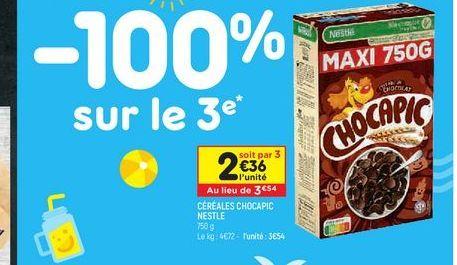 Céréales chocapic  Nestlé offre à 3,54€