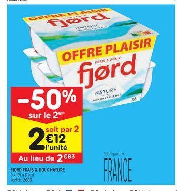 Fjord frais & doux nature offre à 2,83€