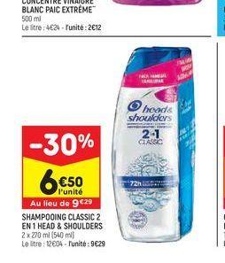 Shampoing classic 2 en 1 head & Shoulders offre à 6,5€