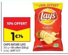 Chips nature Lay's offre à 1,74€