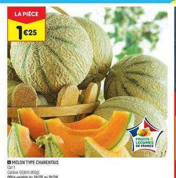 Melon type charentais  offre à 1,25€