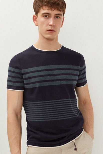 T-shirt maille rayures offre à 12,99€