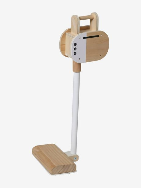 Aspirateur balai en bois FSC® - blanc offre à 20,99€
