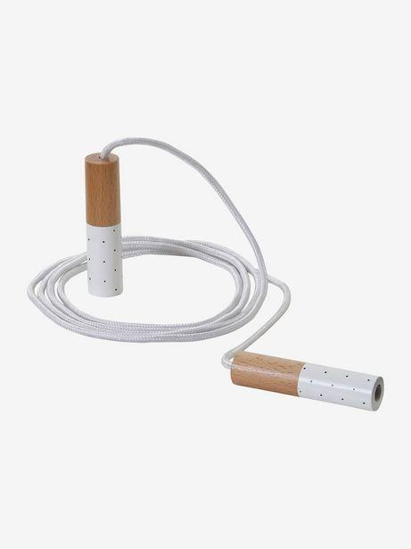 Corde à sauter enfant en bois FSC® - blanc offre à 4,49€